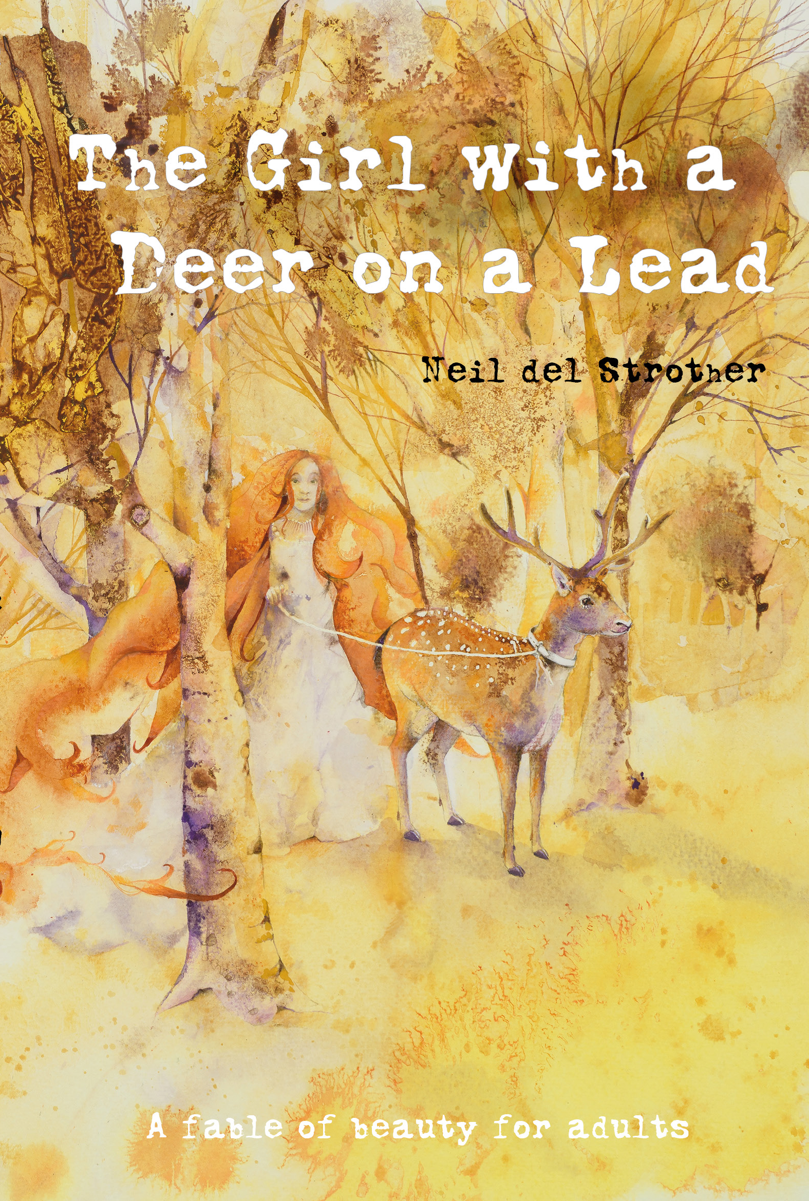 The Girl with a Deer on a Lead